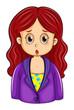 A redhead businesswoman
