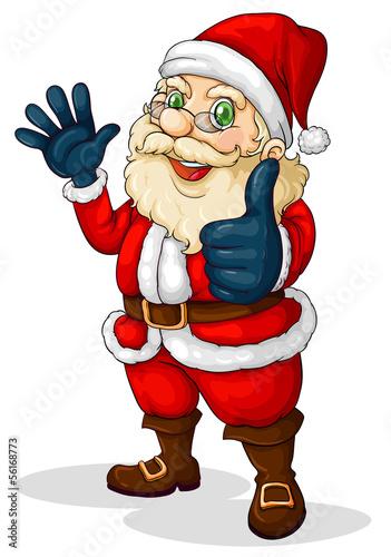A fat Santa Claus