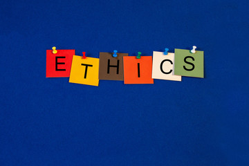 Ethics - Business sign