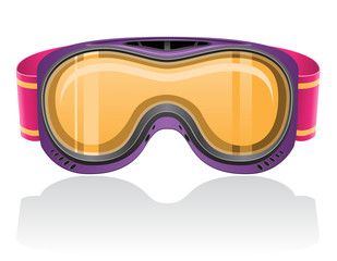 mask for snowboarding and ski vector illustration