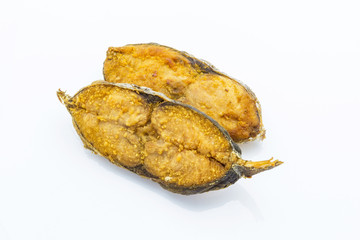 Salted fish fried (King mackerel)
