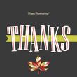 Thanksgiving greeting card design