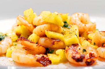 Mango Chili Garnelen | Scampi Salat | Low Carb