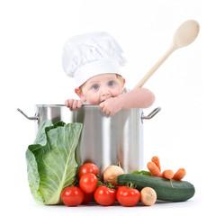 Babykoch im Topf