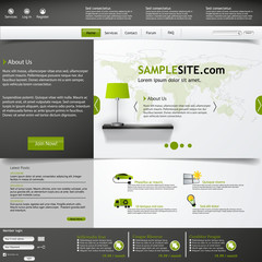 Green and Grey Elegant Website Template