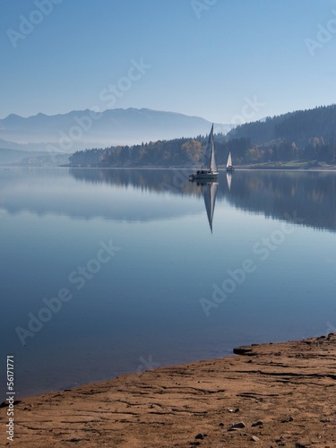 Early morning at Orava reservoir