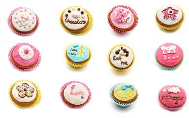 Mural of cupcakes