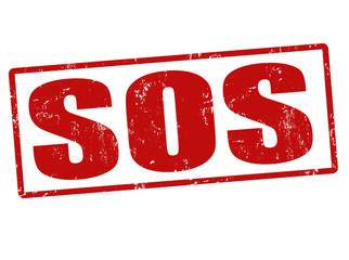 SOS stamp