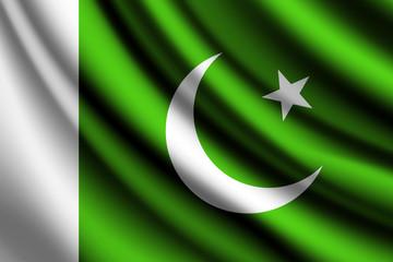Waving flag of Pakistan, vector