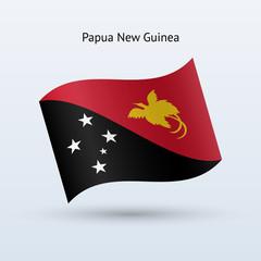 Papua New Guinea flag waving form.