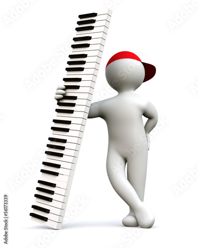 3D Man with Keyboard