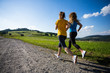 Young women running outdoor