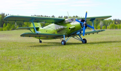 Biplane An-2 (Antonov)  at the airport