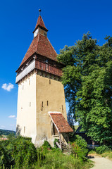 Tower of Biertan church, Transylvania