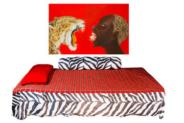 African style bedroom