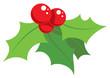 Cartoon simple mistletoe decorative ornament - 56174984