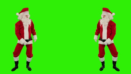 Santa Claus Dancing isolated, Dance 7, Green Screen