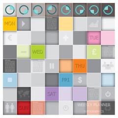Weekly Planner Design Template
