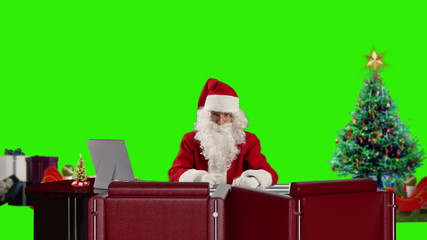 Santa Claus talking, Green Screen