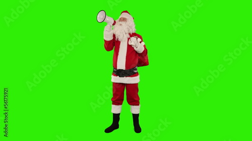 Santa Claus making an announcement, Green Screen