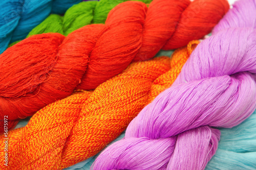 Colorful raw thread background