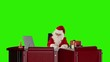 Santa Claus at work, Green Screen