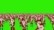 Santa Claus Crowd Dancing, Christmas Party, Green Screen