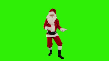 Santa Claus Dancing isolated, Dance 2, Green Screen