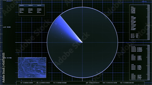 blue radar screen interface (loop)