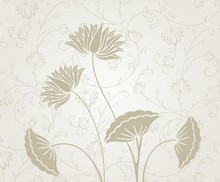 Waterlelies, trouwkaart ontwerp, India