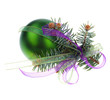 Christmas green ball fir tree branch
