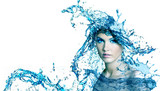 Beautiful woman with water.