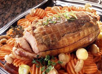roti de veau et carottes