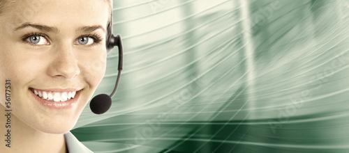 Leinwandbild Motiv Call center. Customer support. Helpdesk.