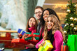 Christmas shopping - friends in mall