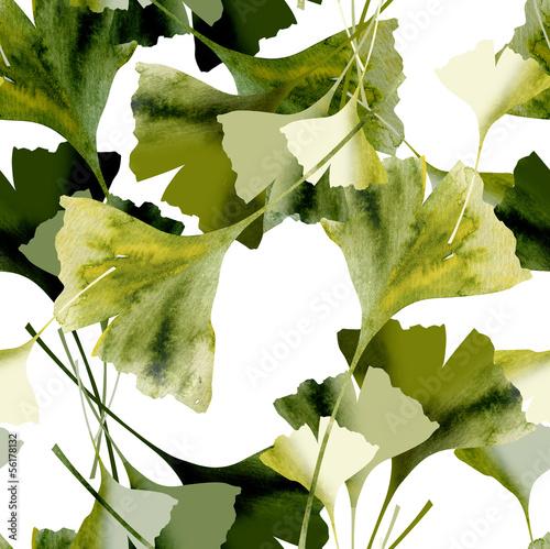 Ginkgo Seamless Pattern © Heidrun Gellrich
