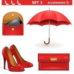 Vector Female Accessories Set 3