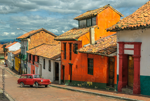 Keuken foto achterwand Zuid-Amerika land La Candelaria, historic neighborhood in downtown Bogota, Colombi