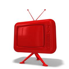 TV Rot lackiert