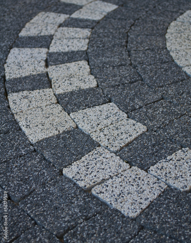 pattern on the pavement