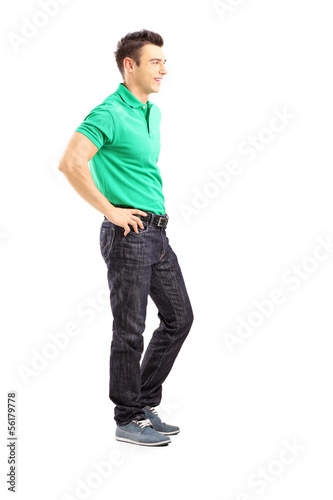 Full length portrait of a handsome casual man posing