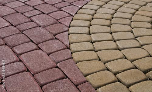 pattern on the pavement - 56180337