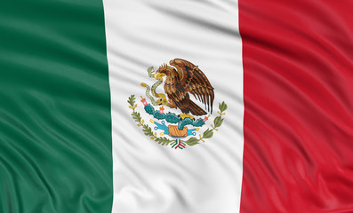 3D Mexican flag  (clipping path included)