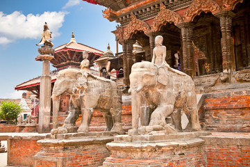 Temples at Durbar Sqaure in Patan,  Nepal
