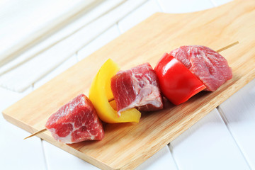 Raw pork kebab