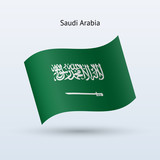Saudi Arabia flag waving form.