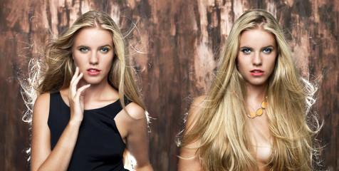 Portrait of beautiful blonde women