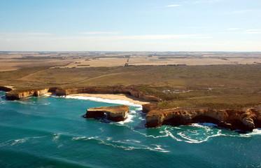 Aerial view on Great Ocean Road, Great Ocean Road, Australia.