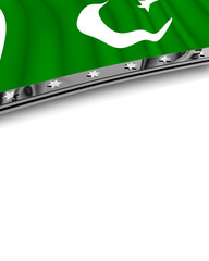 Designelement Flagge Pakistan