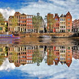 Fototapety beautiful Amsterdam, Holland